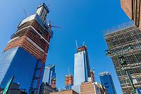 Manhattan midtown building construction  in New York City USA