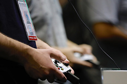 October 10, 2018 - Sao Paulo, Sao Paulo, Brazil - Oct, 2018 - The 10th edition of the biggest game fair in Latin America, the Brasil Game Show (BGS), will take place between 10 and 14 October in the city of Sao Paulo, where visitors can check out some of the biggest games releases, ie games which have not yet been released on the market and can be checked and tested at the event. (Credit Image: © Marcelo Chello/ZUMA Wire)