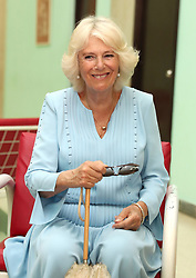 The Duchess of Cornwall during a visit to a maternity home at Hogar Materno Infantil in Havana, Cuba.