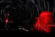 The Mauna Loa Solar Observatory and the air sampling tower at the Mauna Loa Observatory, Hawaii.