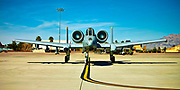 "An A-10 Warthog on the ramp at Nellis Air Force Base, just prior to departure on a ""Red Flag"" exercise.  <br />