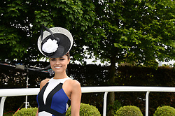 SAMANTHA BARKS at the Investec Derby 2013 held at Epsom Racecourse, Epsom, Surrey on 1st June 2013.