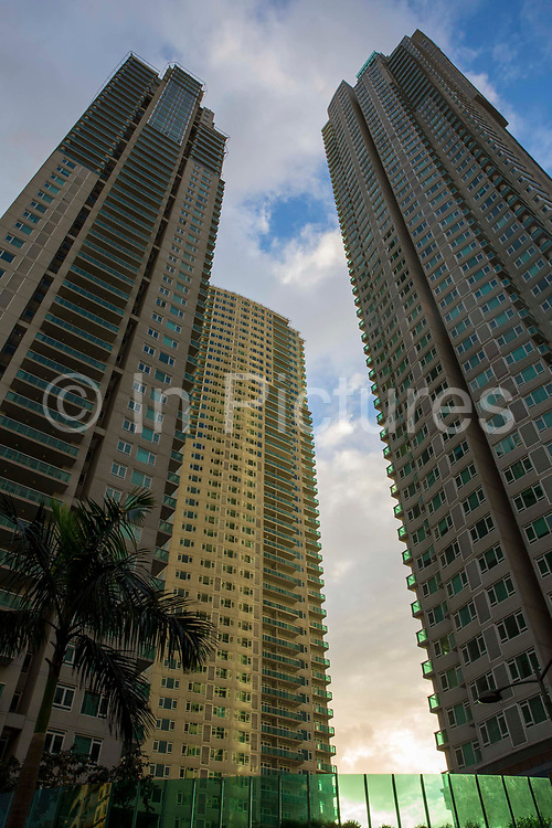 The Park Terraces building in Palm Drive, Makati, Metro Manila, Philippines.