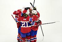 Ishockey, Meca Hockey Games, 7. november 2015, Norge - Danmark.  Morten Ask og de andre norske kan feire 4-1 scoring.  Foto: Tore Fjermestad