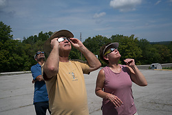 August 21, 2017 - Eclipse watchers enjoy the total eclipse near Del Soto, Missouri (Credit Image: © Elijah Hurwitz via ZUMA Wire)