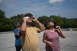 August 21, 2017 - Eclipse watchers enjoy the total eclipse near Del Soto, Missouri (Credit Image: © Elijah Hurwitz via ZUMA Wire)