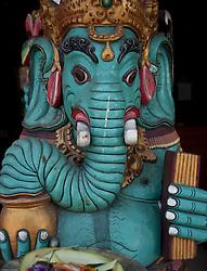 Turquoise Ganesha, Ubud, Bali, Indonesia.