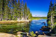 The Tuolumne River, Tuolumne Meadows, Yosemite National Park, California USA
