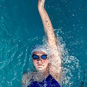 Swim practice at the Rosebowl Aquatic Center in Pasadena, CA
