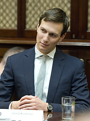 February 16, 2017 - Washington, District of Columbia, United States of America - Jared Kushner listens as United States President Donald J. Trump participates in a ''Congressional listening session'' in the Roosevelt Room of the White House in Washington, DC on Thursday, February 16, 2017..Credit: Ron Sachs / Pool via CNP (Credit Image: © Ron Sachs/CNP via ZUMA Wire)