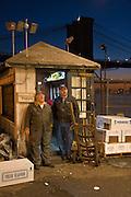 New York City: Sunrise over the Fulton Fish Market