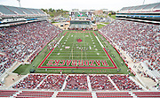 Apr 20, 2013; Fayetteville, AR, USA; The crowd at the stadium during the red vs. white spring football game at Donald W. Reynolds Razorback Stadium. Mandatory Credit: Beth Hall-USA TODAY Sports