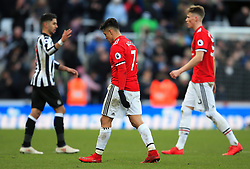 Alexis Sanchez of Manchester United leaves the field looking dejected at full time - Mandatory by-line: Matt McNulty/JMP - 11/02/2018 - FOOTBALL - St James Park - Newcastle upon Tyne, England - Newcastle United v Manchester United - Premier League