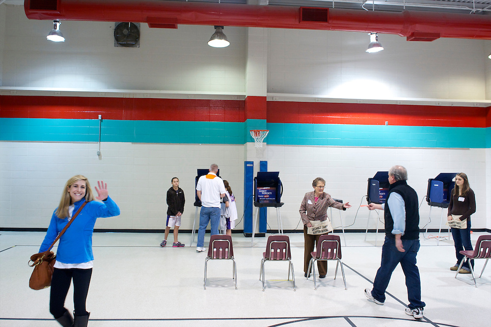 Voters cast their ballots at Oak View School for the South Carolina Primary.  Polls are open from 7am-7pm.