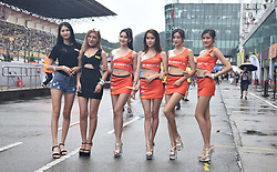 June 18, 2017 - Zhuhai, Zhuhai, China - Zhuhai, CHINA-June 18 2017: (EDITORIAL USE ONLY. CHINA OUT)  Car models at the Pan Delta Super Racing Festival in Zhuhai, south China's Guangdong Province, June 18th, 2017. (Credit Image: © SIPA Asia via ZUMA Wire)
