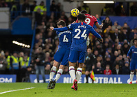 Football - 2019 / 2020 Premier League - Chelsea vs. Manchester United<br /> <br /> Anthony Martial (Manchester United) glances home the header to give his side a 1-0 lead at Stamford Bridge <br /> <br /> COLORSPORT/DANIEL BEARHAM