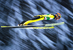 16.12.2017, Gross Titlis Schanze, Engelberg, SUI, FIS Weltcup Ski Sprung, Engelberg, im Bild Noriaki Kasai (JPN) // Noriaki Kasai of Japan during Mens FIS Skijumping World Cup at the Gross Titlis Schanze in Engelberg, Switzerland on 2017/12/16. EXPA Pictures © 2017, PhotoCredit: EXPA/JFK