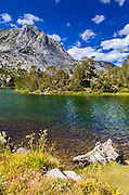 Long Lake on the Bishop Pass Trail, John Muir Wilderness, Sierra Nevada Mountains, California USA