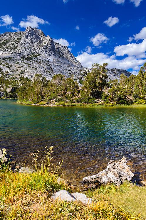 Long Lake on the Bishop Pass Trail, John Muir Wilderness, Sierra Nevada Mountains, California USA