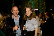 SIMON SEBAG-MONTEFIORE; CAMILLA LONG, Orion Publishing Group Author Party. V & A. London. 18 February 2009.  *** Local Caption *** -DO NOT ARCHIVE -Copyright Photograph by Dafydd Jones. 248 Clapham Rd. London SW9 0PZ. Tel 0207 820 0771. www.dafjones.com<br /> SIMON SEBAG-MONTEFIORE; CAMILLA LONG, Orion Publishing Group Author Party. V & A. London. 18 February 2009.