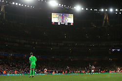 7 March 2017 - UEFA Champions League - (Round of 16) - Arsenal v Bayern Munich - Thousands of empty seats below a scoreboard showing the 1-5 scoreline - Photo: Marc Atkins / Offside.
