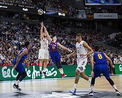 February 18, 2019 - Madrid, Madrid, Spain - Sergio Llull during FC Barcelona Lassa victory over Real Madrid (93 - 94) in Copa del Rey 2019 game (final) celebrated in Madrid (Spain) at Wizink Center. February 17th 2019. (Credit Image: © Juan Carlos Garcia Mate/Pacific Press via ZUMA Wire)