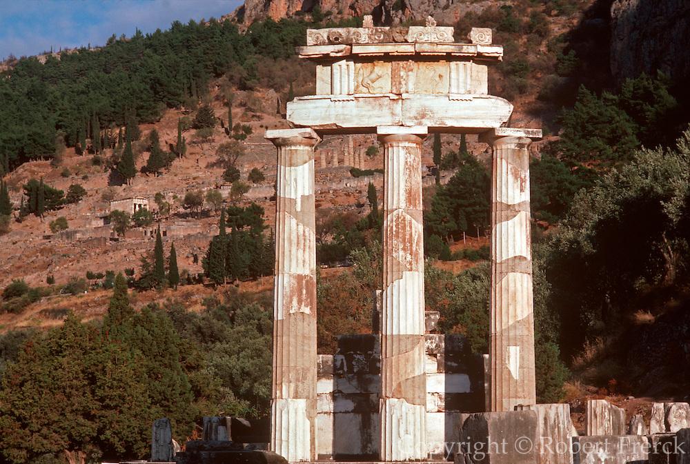 GREECE, HISTORIC SITES, DELPHI Tholos or Rotunda, Sanctuary of Athena