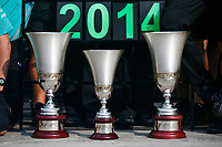 Trophies during the 2014 Formula One World Championship, Italy Grand Prix from September 5th to 7th 2014 in Monza, Italy. Photo Florent Gooden / DPPI