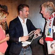 NLD/Amsterdam/20120503 - Lancering Rafael Magazine, Sylvie van der Vaart - Meis, Freek de Jonge en Rafael van der Vaart