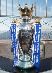 November 27, 2017 - New York, New York, U.S - The Empire State Building hosts the Premiere League Trophy on November 27, 2017 in New York. (Credit Image: © Bryan Smith via ZUMA Wire)