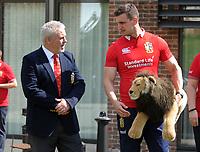 Rugby Union - 2017 British & Irish Lions Tour to New Zealand - Squad & Captain Announcement Press Conference<br /> <br /> Coach Warren Gatland with the Lions Captain, Sam Warburton at the Hilton Syon Park, London.<br /> <br /> COLORSPORT/ANDREW COWIE