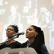 The sisters of David Sean Rigg, who died in police custody. Resistance: The best Olympic Spirit. With John Carlos, Doreen Lawrence, Janet Alder and others.
