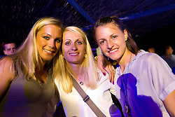 Snezana Rodic, Sabina Veit and Anja Puc of Slovenia at afterparty  at the end of European Athletics Championships Barcelona 2010, on August 2, 2010 at Forum, Barcelona, Spain. (Photo by Vid Ponikvar / Sportida)