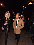 Exclusive<br /> Apprentice star James Hill who was pictured arriving with current miss UK Kirsty Rose at the engagement party for BB Star Steve Goode and Kim Kisselovich<br /> ©Exclusivepix