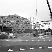 Busstation Graaf Wichman Huizen bouw stalen constructie.kraan, de marke, afzetting, werlieden