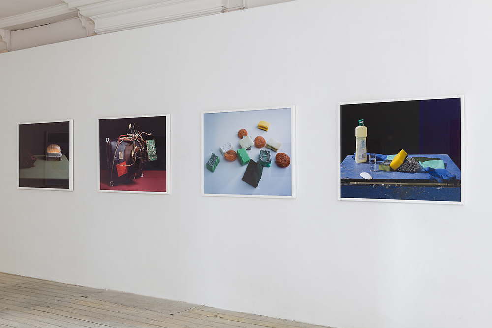 installation view from Double-Space, Peter Abrahams, at the Eagle Gallery, London, May 2009