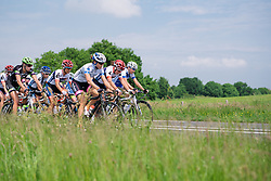 Head of the race in the early kilometres at Boels Hills Classic 2016. A 131km road race from Sittard to Berg en Terblijt, Netherlands on 27th May 2016.