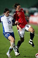 Fotball , 17. oktober 2007 , EM-kvalifisering , Bosnia Herzegovina - Norge 0-2 , <br /> <br /> Thorstein Helstad  , Norge og Safet Nadarevic , Bosnia
