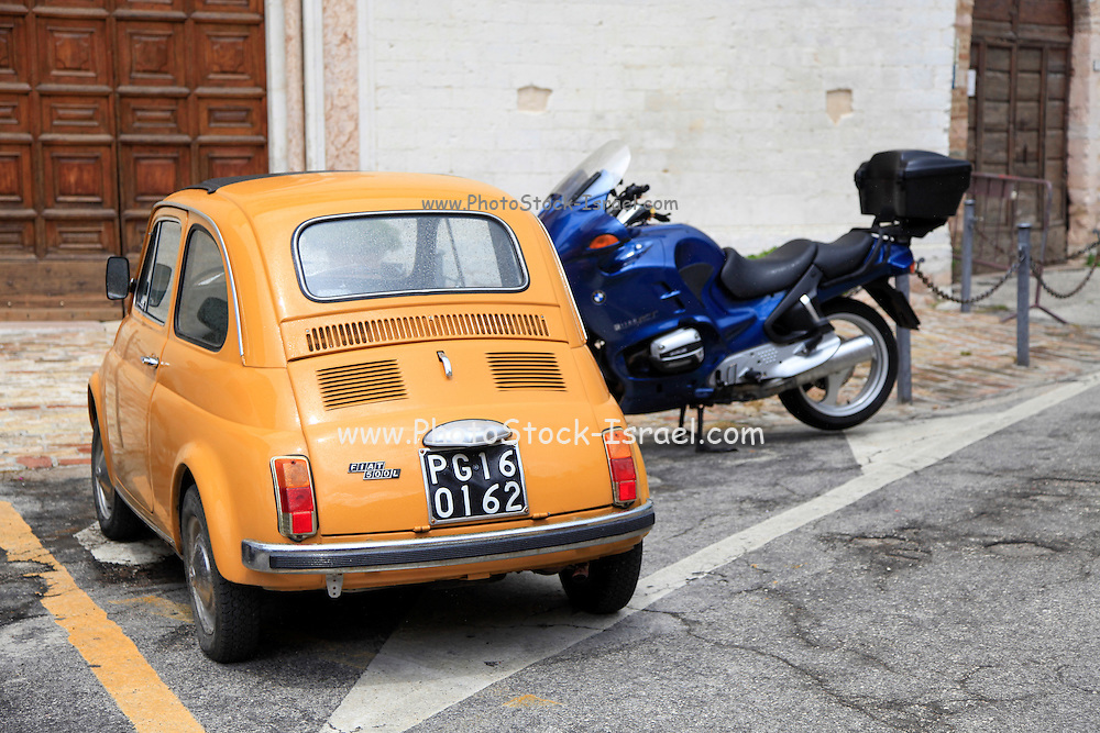 Vintage Fiat 500L Photographed in Umbria, Italy