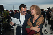 VADIM GRIGORIAN; CAROLYN CHRISTOV-BAKARGIEV;  Absolut Art Bureau cocktails and dinner to celebrate the announcement of the 2013 Absolut Art Award shortlist. Bauer Hotel, San Marco. Venice. Venice Bienalle. 28 May 2013