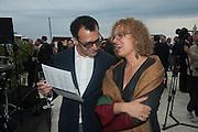 VADIM GRIGORIAN; CAROLYN CHRISTOV-BAKARGIEV;  Absolut Art Bureau cocktails and dinner to celebrate the announcement of the 2013 Absolut Art Award shortlist. Bauer Hotel, San Marco. Venice. Venice Bienalle. 28 May 2013