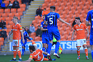 GOAL Ryan Delaney watches as his shot goes in  during the EFL Sky Bet League 1 match between Blackpool and Rochdale at Bloomfield Road, Blackpool, England on 6 October 2018.