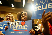 05012016 - South Bend, Indiana, USA: Bernie Sanders supporters listen to his speech during a campaign stop at the Century Center. (Jeremy Hogan/Polaris)