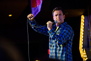 """Comedian, John Heffron keeping the audience laughing hysterically at """"Stand Up LIVE!"""" in Phoenix, AZ."""