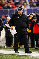 Philadelphia Eagles Head Coach Andy Reid during the NFL game between the Philadelphia Eagles and the New York Giants on December 13th 2009. The Eagles won 45-38 at Giants Stadium in East Rutherford, New Jersey. (Photo By Brian Garfinkel)