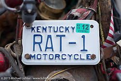 Flat Lick, KY resident Smitty brings his Harley-Davidson rat Knucklehead back to Florida for the annual AMCA Sunshine Chapter swap meet in New Smyrna Beach, FL during Daytona Bike Week. Saturday, March 7, 2015.  Photography ©2015 Michael Lichter.