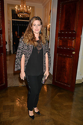 FRANCESCA VERSACE at a party to kick off London Fashion Week hosted by US Ambassador Matthew Barzun and Mrs Brooke Brown Barzun with Alexandra Shulman in association with J.Crew hrld at Winfield House, Regent's Park, London on 18th September 2015.