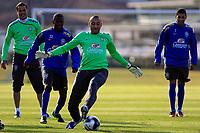 20090604: TERESOPOLIS, BRAZIL - Brazil National Team preparing match against Uruguay. In picture: goalkeeper Gomes and Ramires. PHOTO: CITYFILES