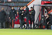Football - 2020 / 2021 Sky Bet Championship - AFC Bournemouth vs. Birmingham City - The Vitality Stadium<br /> <br /> Bournemouth's Interim Manager Jonathan Woodgate  welcomes Birmingham City Head Coach Aitor Karanka. After being employed by the club as the first team coach for less than two days, Jonathan Woodgate finds himself promoted to Interim Manager after the sacking during the week of Jason Tindall<br /> <br /> COLORSPORT/SHAUN BOGGUST