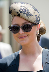 © licensed to London News Pictures. 14/06/2011. Ascot, UK.  Holly Valance arriving on day one at Royal Ascot races today (14/03/2011). The 5 day showcase event,  one of the highlights of the racing calendar is in it's 300th year. Horse racing has been held at the famous Berkshire course since 1711 and tradition is a hallmark of the meeting. Top hats and tails remain compulsory in parts of the course. Photo credit should read: Ben Cawthra/LNP